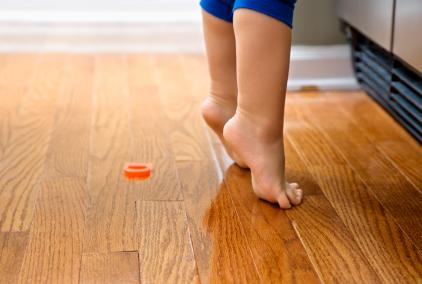 child hardwood floor