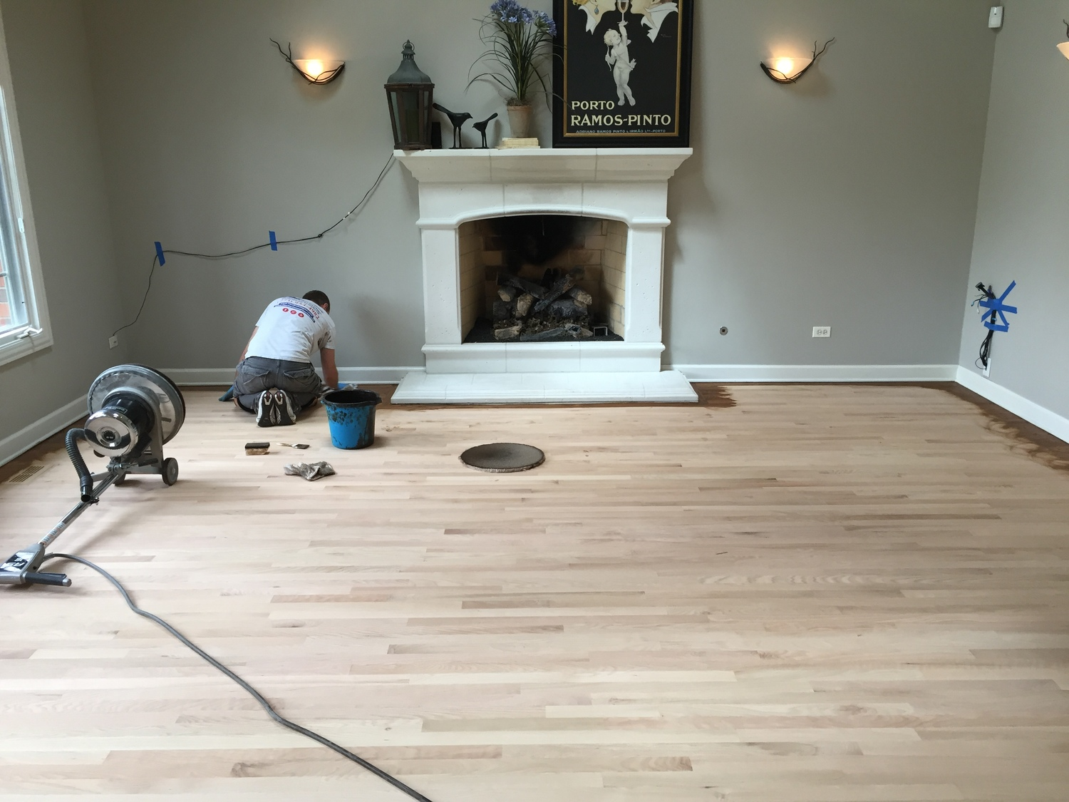 How To Refinish Your Hardwood Floors Final Sanding With The Buffer Floor Refinishing Services In Chicago Flooring Companies