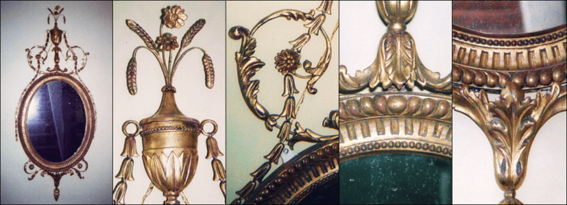 Antique style ovals