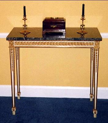 Gilt side table