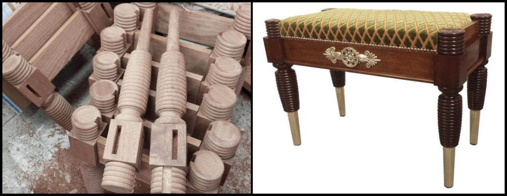 Mahogany stools