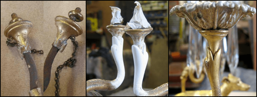 Gilt candlesticks