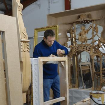 Carving gesso