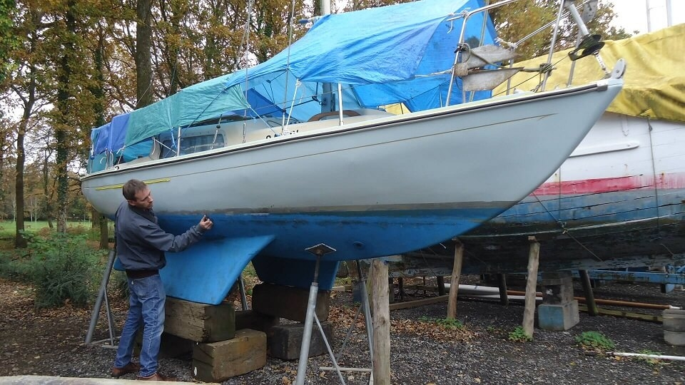 And when I'm not working, I like to do this too, a little boat repair.