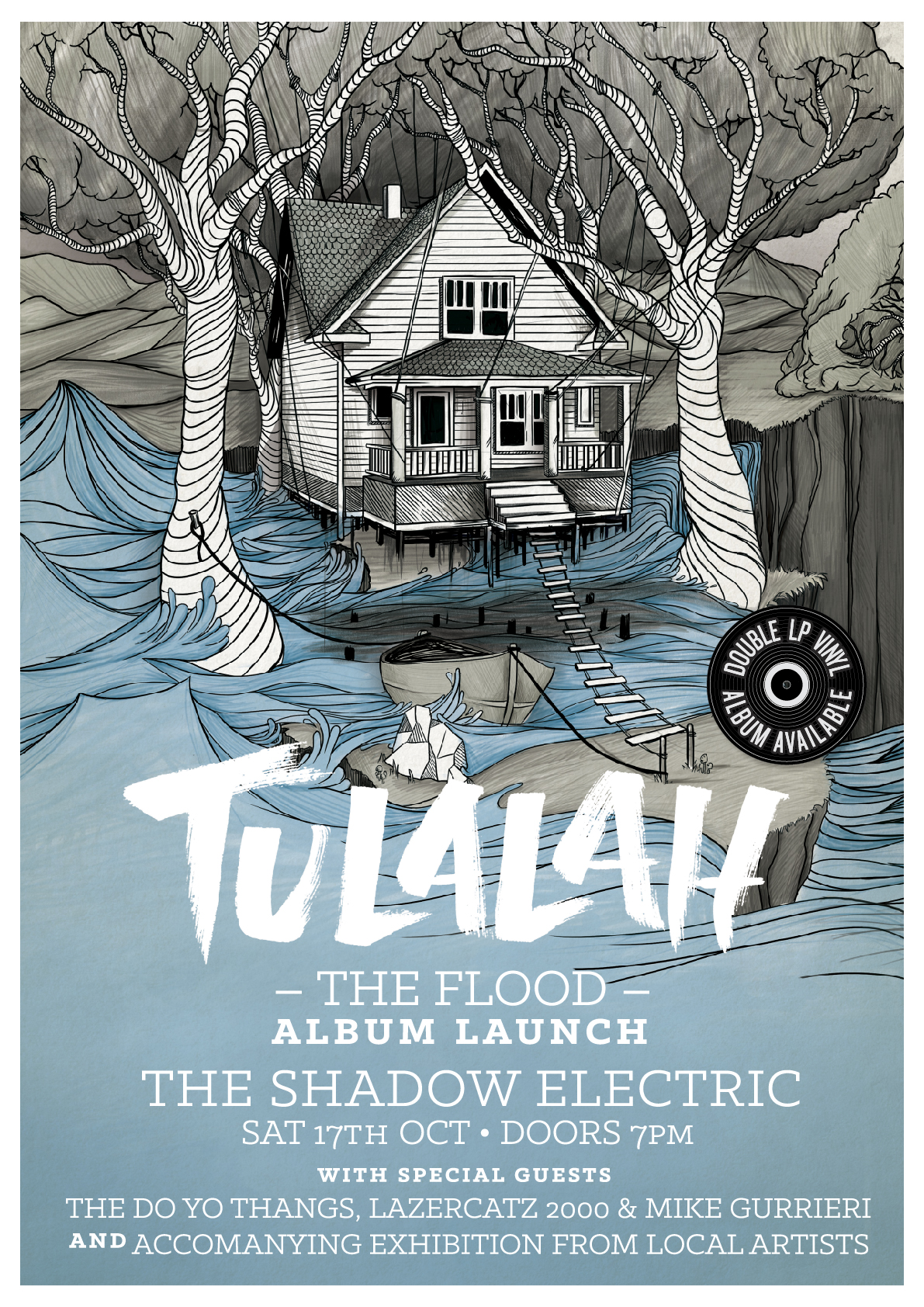 Tulalah 'The Flood' Album Launch Poster
