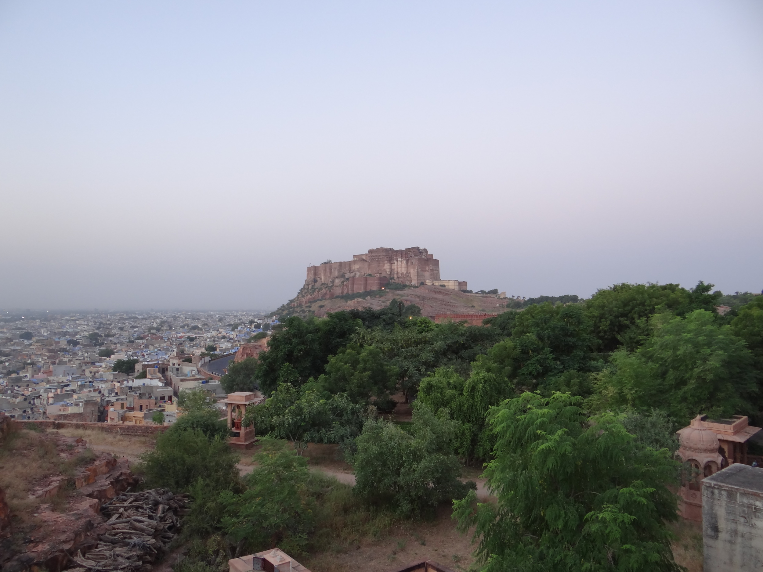 Mehrangarh Fort at 7 in the morning