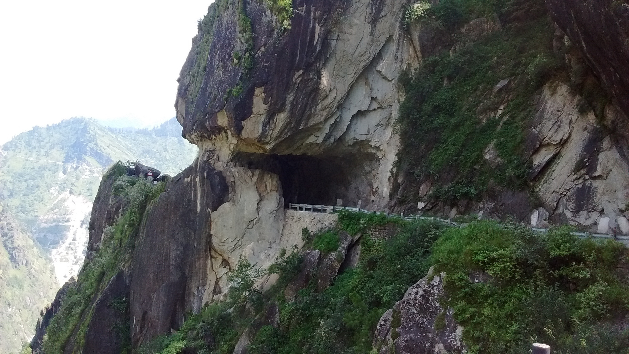 Another hour after this natural tunnel, less friendly roads await