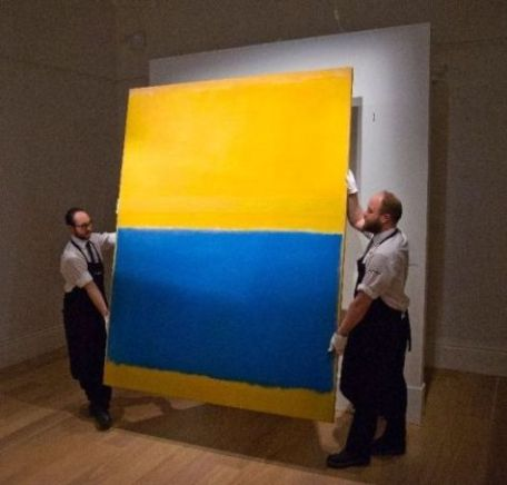Rothko used large canvases