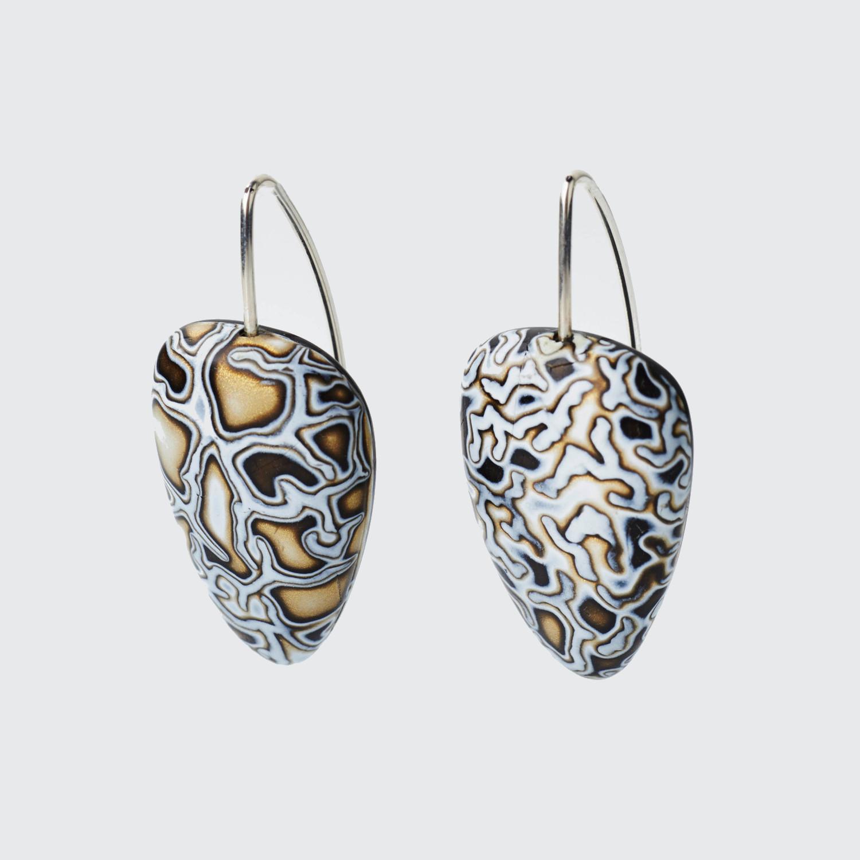 Melanie Muir Bronze Mono Cracks Earrings.jpg
