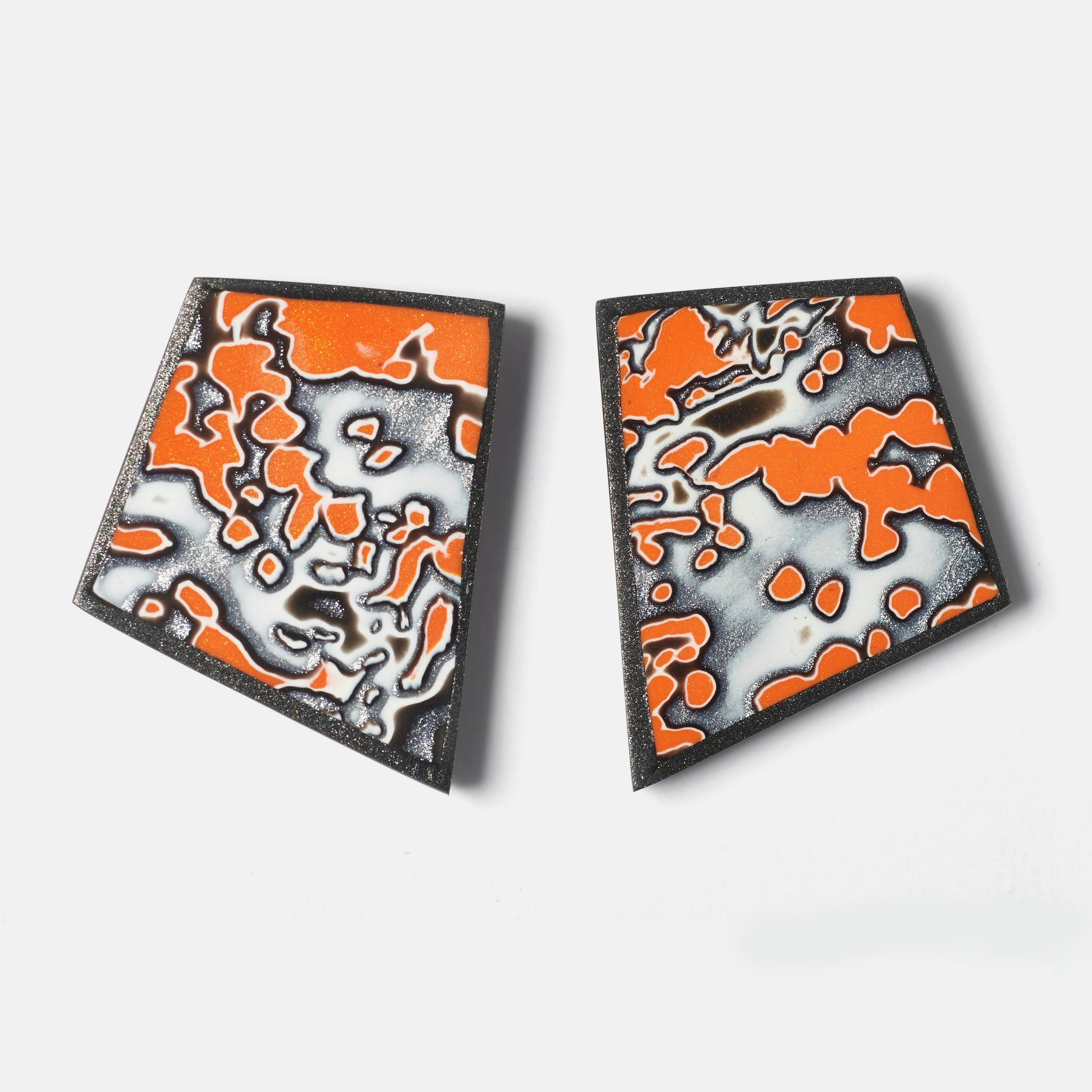 Melanie Muir Orange Geo Earrings .jpg