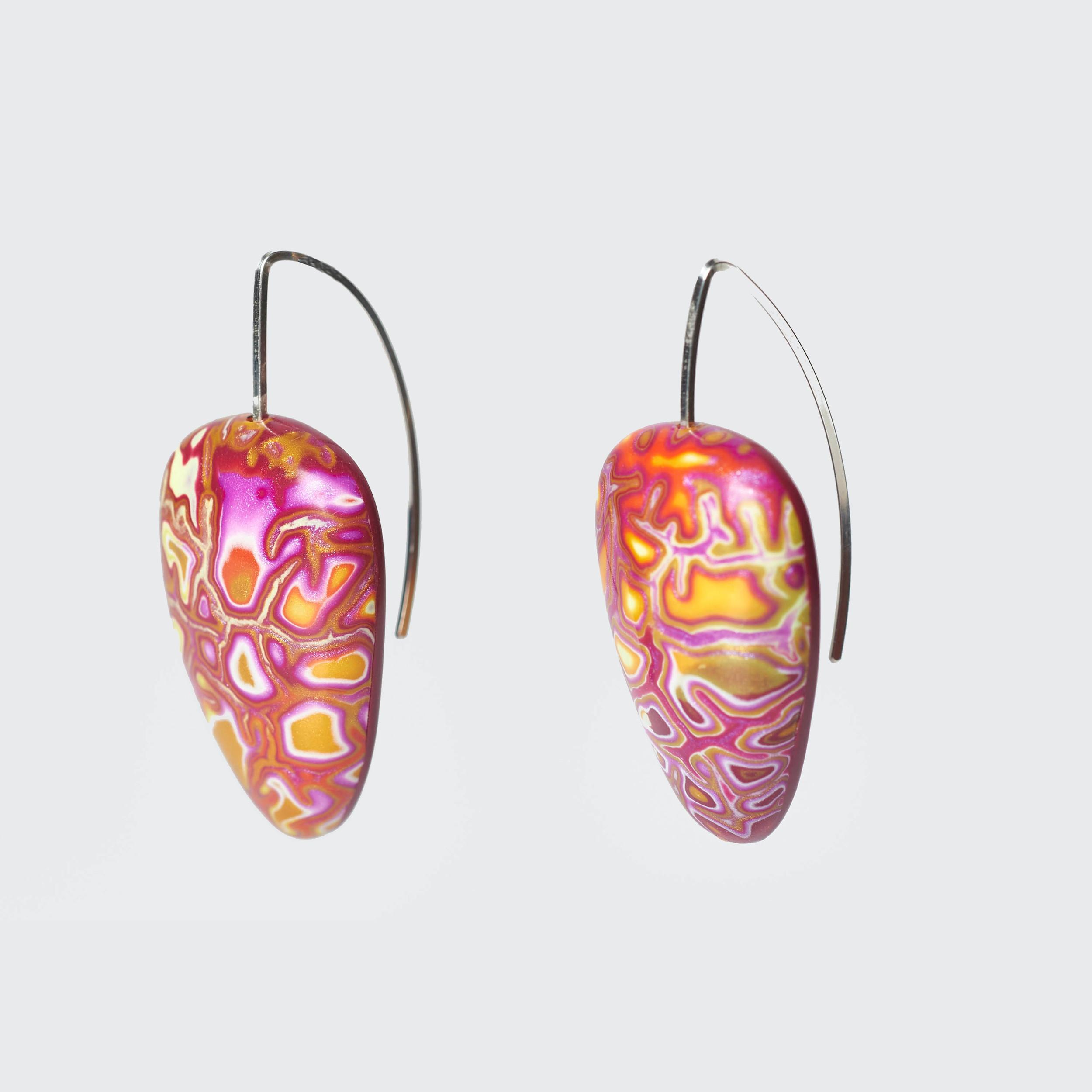 Melanie Muir Raspberry Drop Earrings.jpg