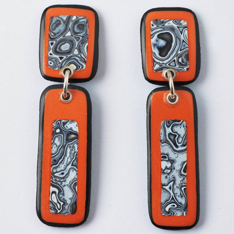 Melanie Muir Orange Mono Drops Earrings.jpg