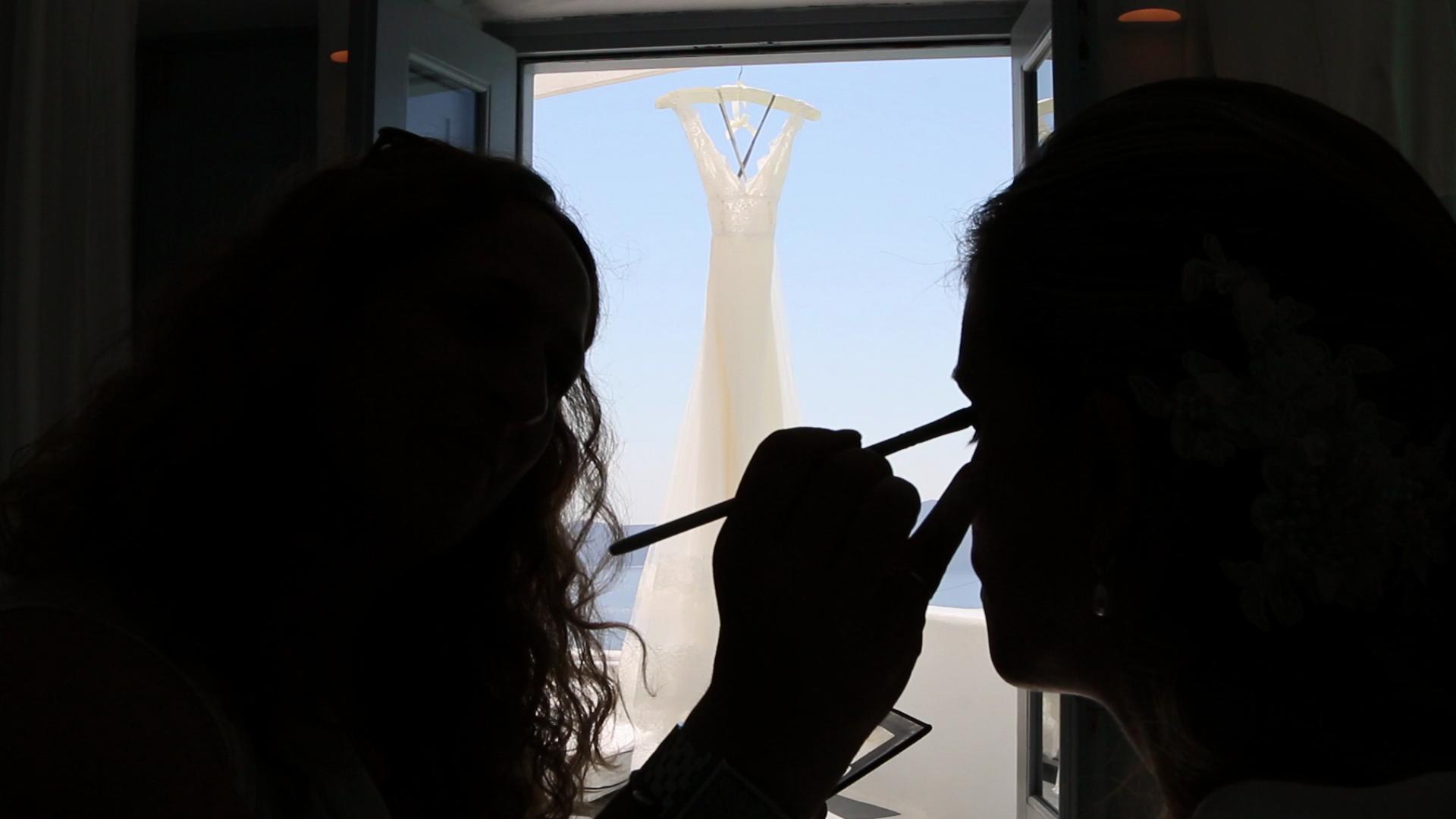 Wedding Videography Santorini - Wedding Makeup