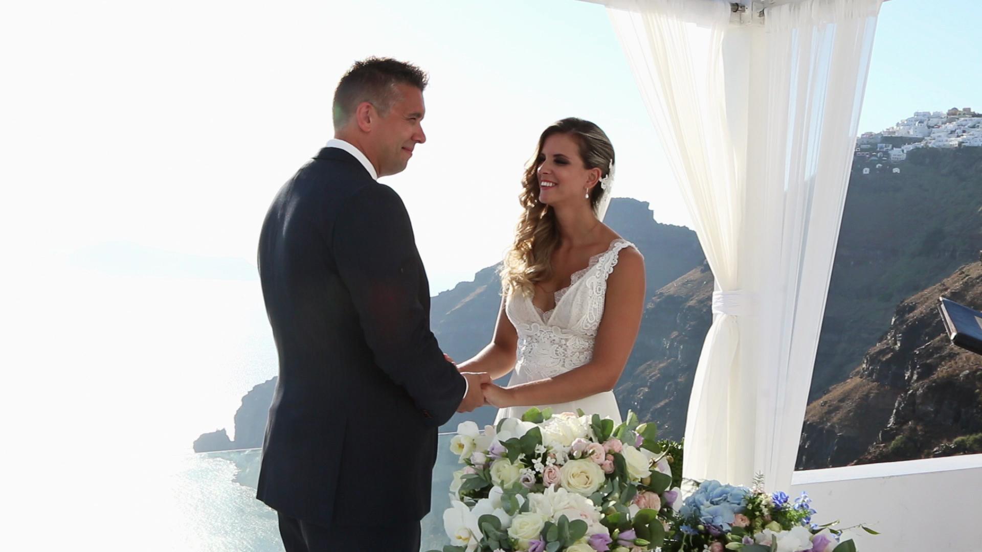 Wedding Videography Santorini - Wedding Vowels