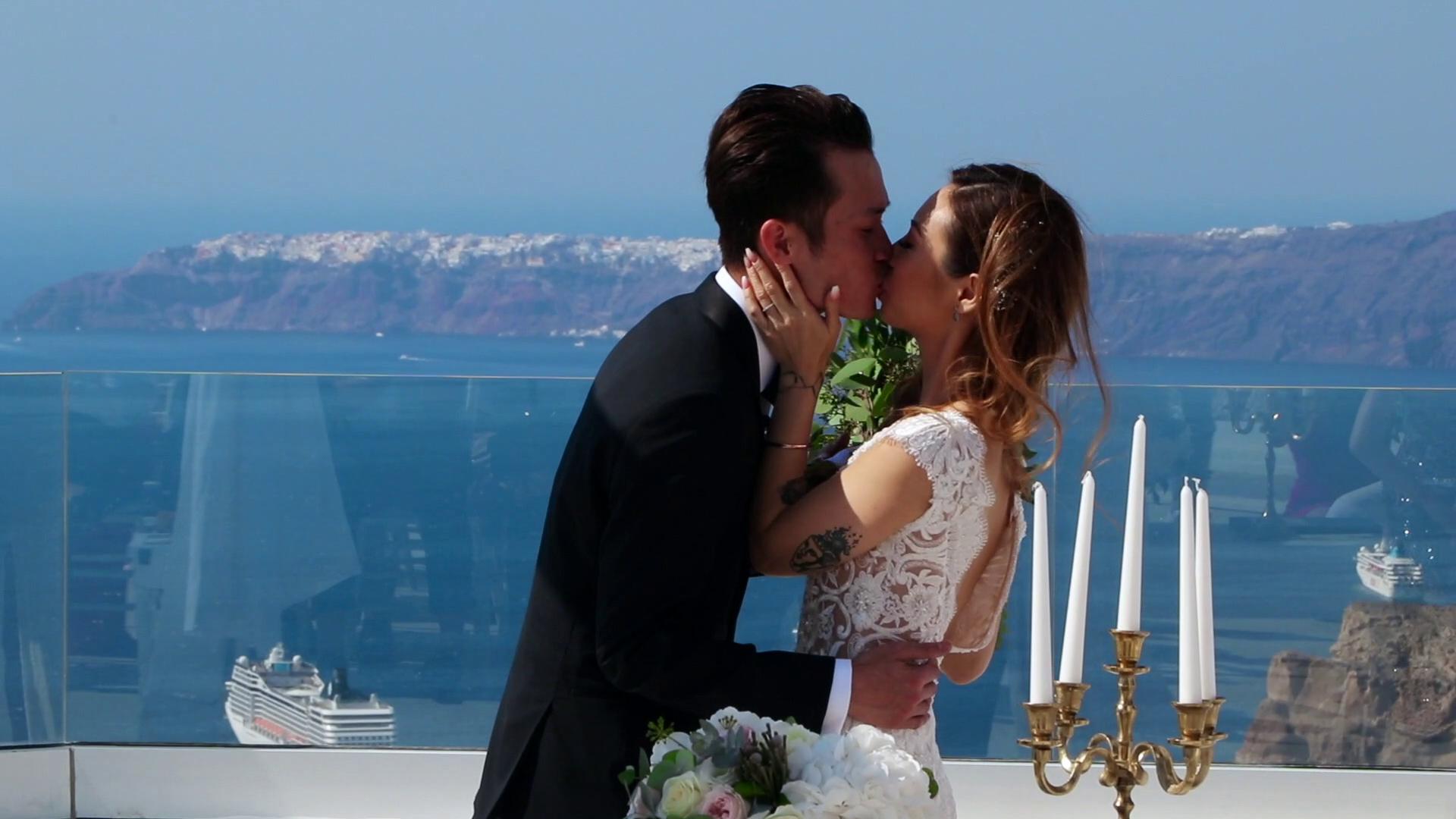 Santorini Wedding Videography Santo wines