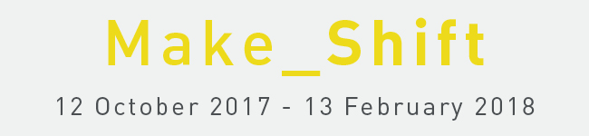 Collyer Bristow presents   Make_Shift    Curated by Rosalind Davis    Private View Wednesday 11 October 6-8pm   Exhibition continues to 13 February 2018.  Collyer Bristow Gallery, 4 Bedford Row, London WC1R 4TF   Artists: Jake Clark, Fiona Curran, Gemma   Cossey  , Rosalind Davis, Otto Ford, Neill Fuller, Fran Gordon,  Asger    Harbou    Gjerdvik  ,  Gunther   Herbst  ,  Helen   Johannessen  ,  Alan Magee,  Richard   McVeitis  ,  Andrea   Medjesi  -Jones, Peter Jones, Milena Michalski, Michaela   Nettell  , Laurence   Noga  , Michael Samuels,  Silvina  Soria, Charles   Stiven  , Rachel Wilberforce and Andrea V Wright    To fold, to mark, to gather, to collect, to surround, to encircle, to hang, to distribute, to systematize, to simplify, to distill, to remove, to discard, to disarrange, to modulate, to mix, to bond, to stretch, to join, to repair, to expand. to continue…   Fifty years ago, artist Richard Serra created the artwork  Verb List  that became a road map for his own process of making and an influence on the work of many others since. The abridged verb list above emphasizes a compelling attitude towards creativity (or even curating) epitomized by actions, processes and the ideas underpinning Make_Shift.  The artists in Make_Shift, manipulate and modify different mediums and processes; assembling, layering and collaging both literally and conceptually to disrupt our expectations of objects and images.  Many of the works in the exhibition acknowledge the mechanized or inhabit its process, such as Gemma Cossey's repeated gestural marks or Richard McVetis meticulous stitched work. There is also a distinct desire by many of the artists to steer away from the artificiality of screens and the virtual such as with the work of Fran Gordon and Fiona Curran who disrupt our reading of space. Even when digital tools are used in the process of production for example in Otto Ford's work, his outcomes evidence a strong sense of materiality and a sensual tactility related t