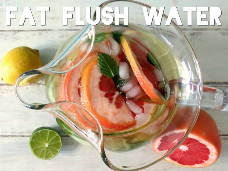 Looking for the perfect compliment to your workout routine? Try this recipe for fat flush water!