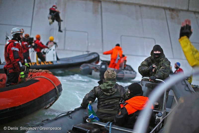Greenpeace ocean activism by Denis Sinyakov