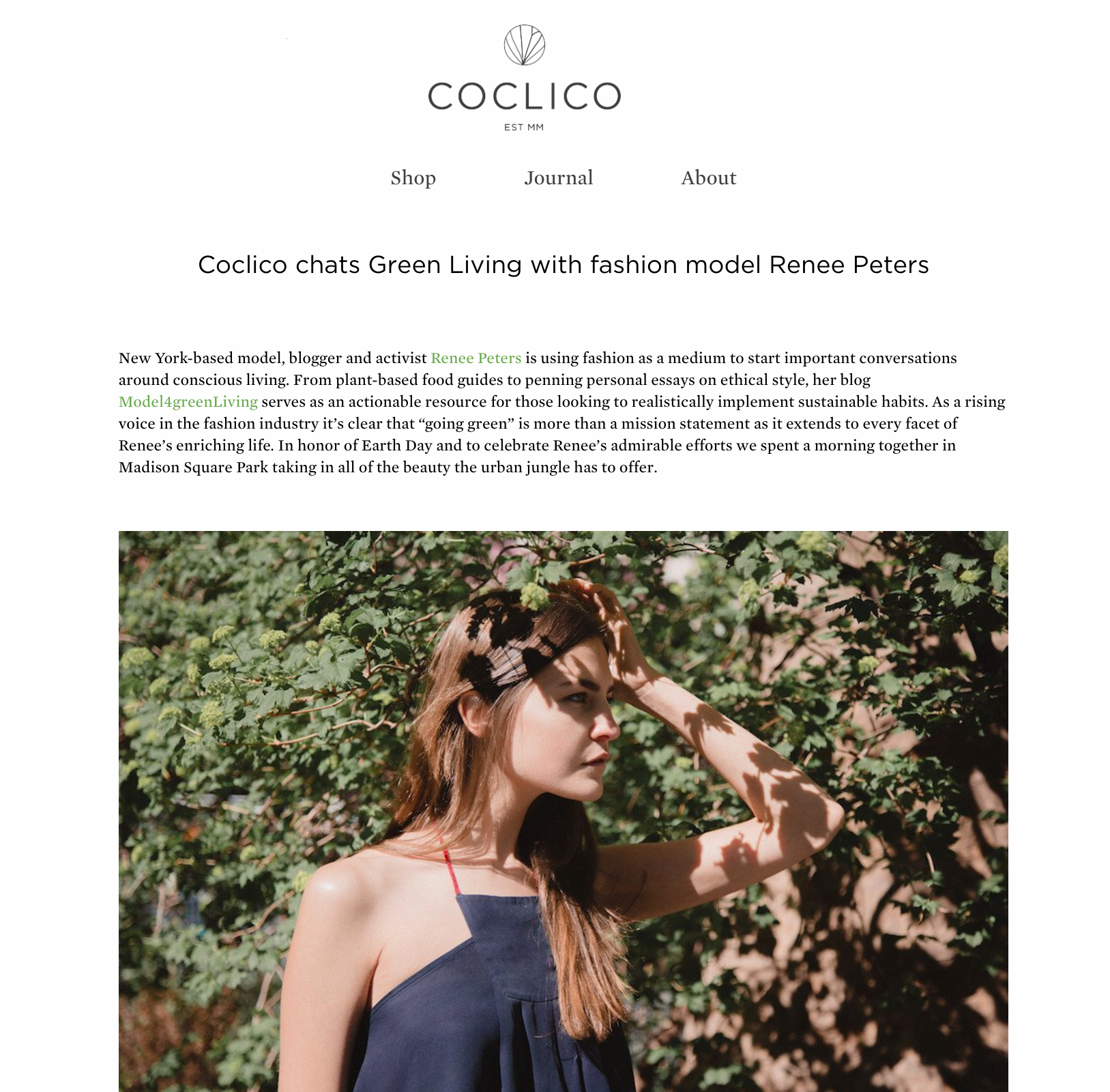 Earth Day Feature 2017; COclico