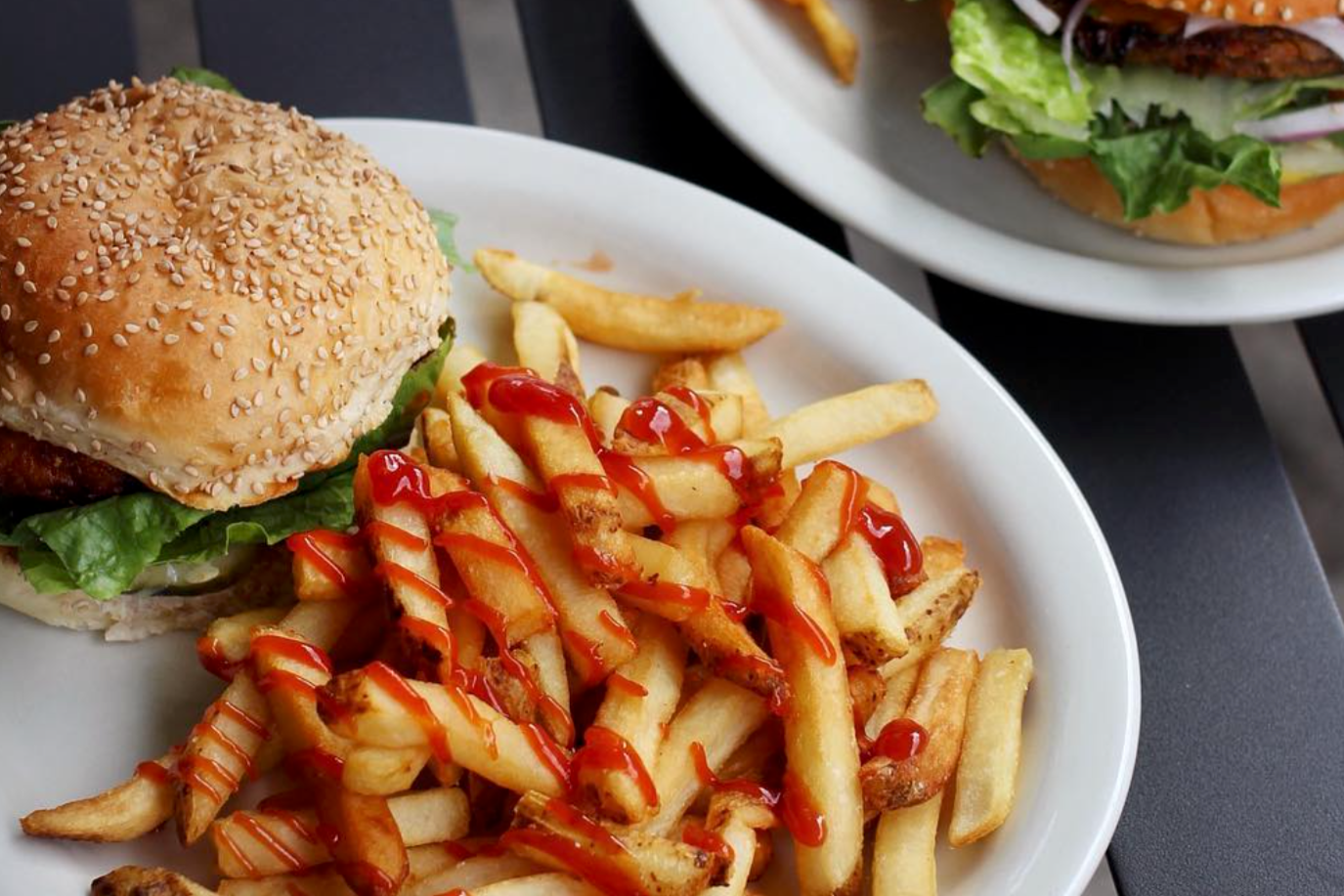 Champs Diner_Vegan_Brooklyn_Burger and Fries