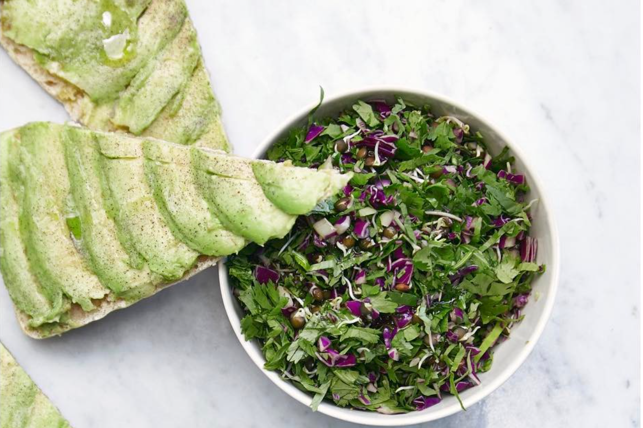Dr Smood_Organic Avocado toast_Organic Kale Salad.
