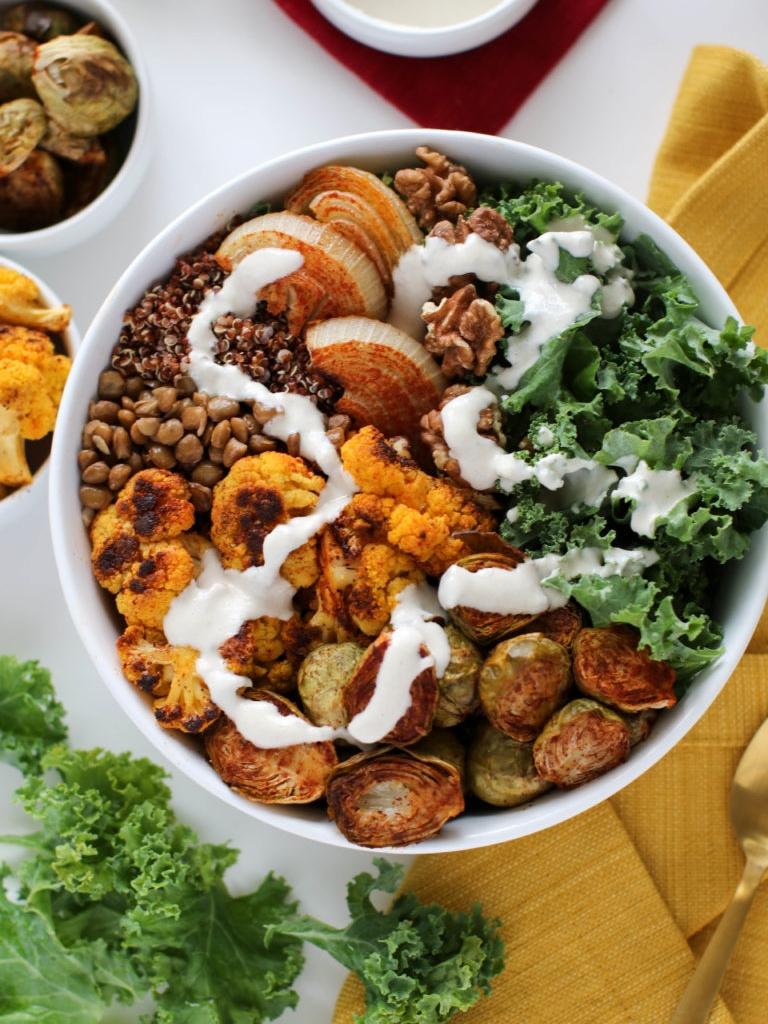 Paprika Roasted Macro Bowl via  FLora and Vino