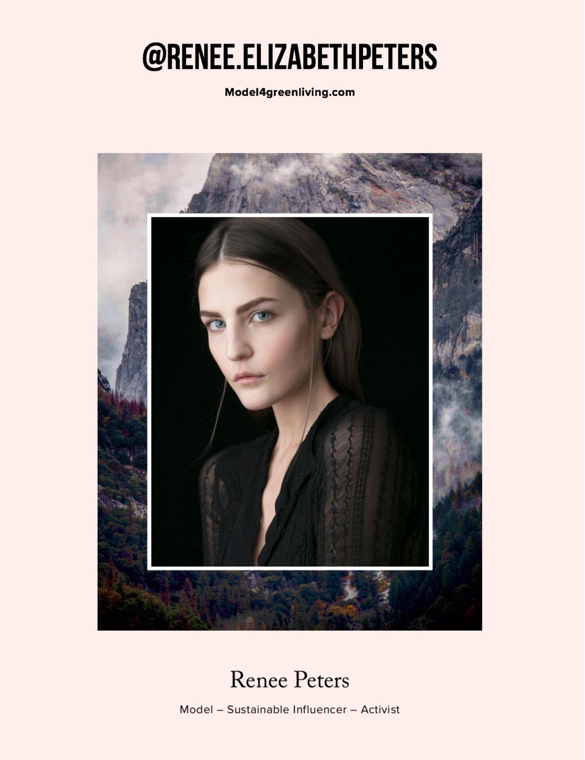 Renee Peters_Media Kit Cover_Model4greenliving