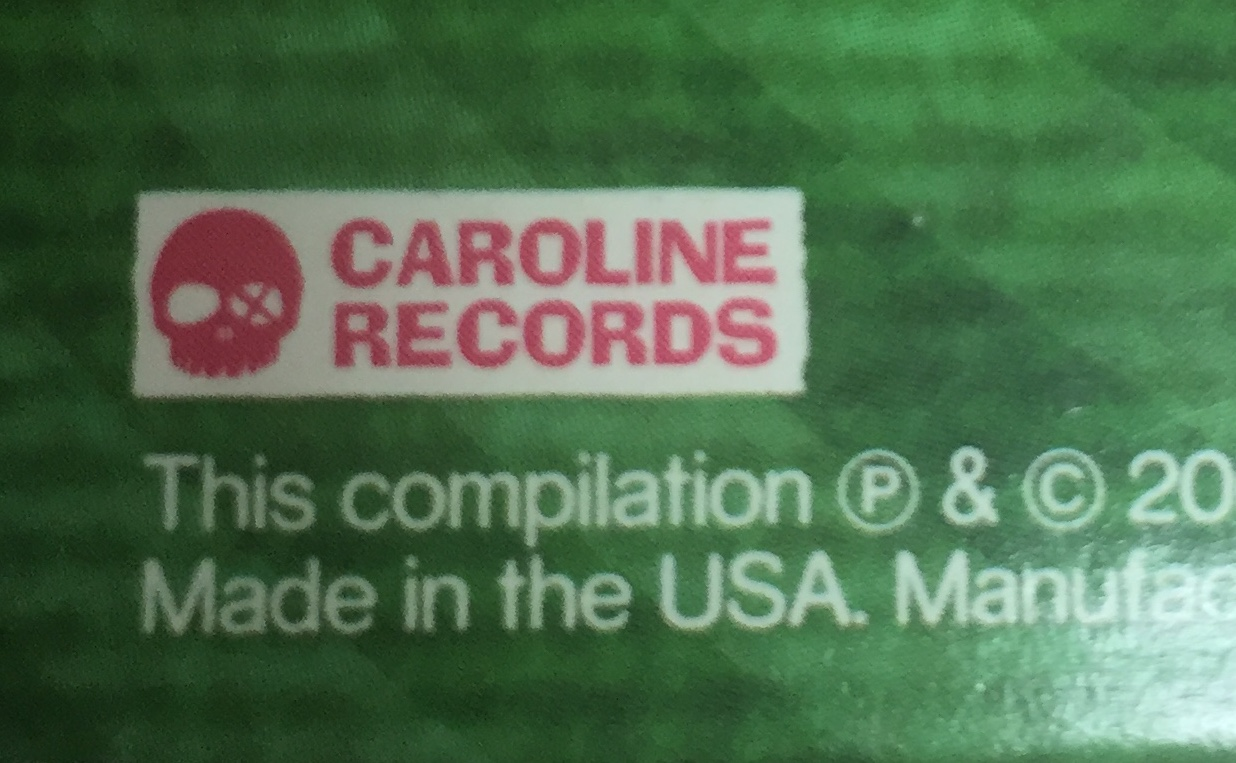 It took ages to get the redesigned Caroline logo done. We had a version of the skull with pigtails, too, because I seemed to release a lot of records by female artists and I wanted to build that identity.