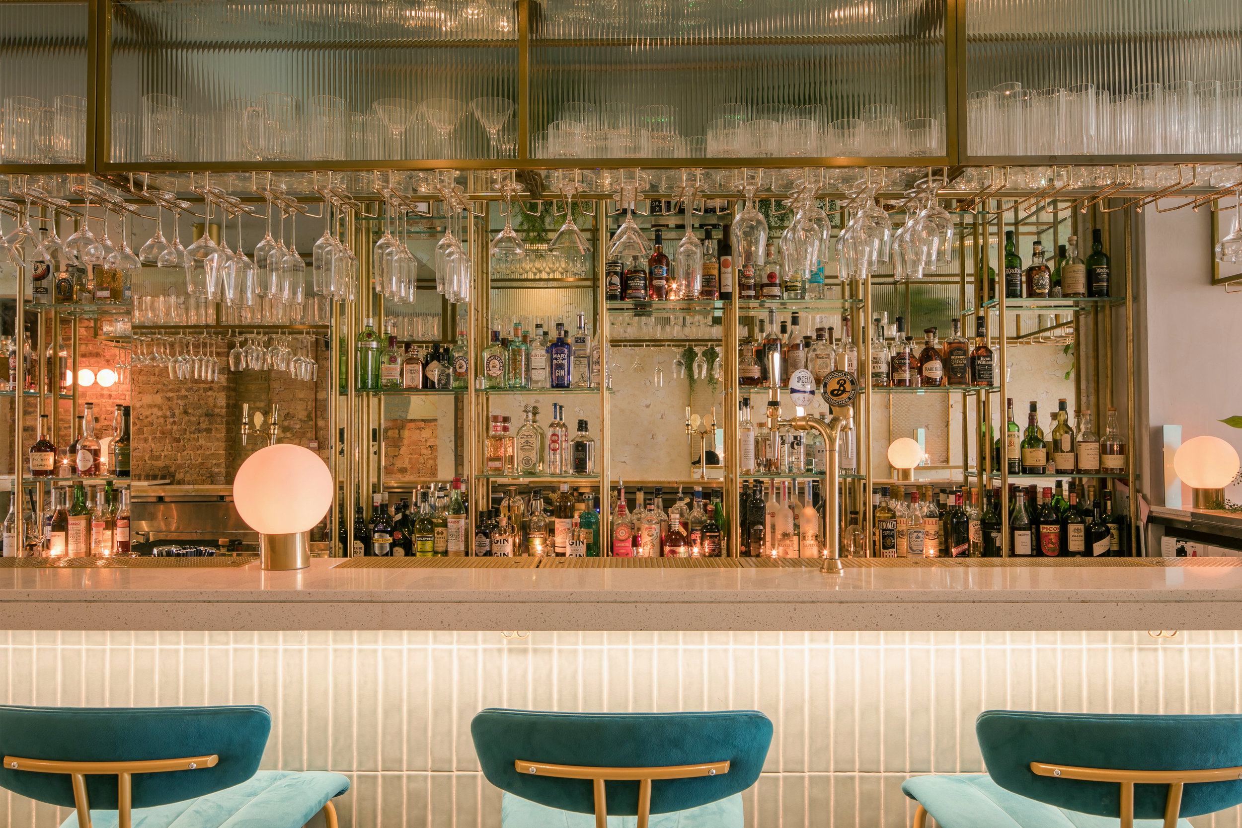 Heads + Tails bar interior kinnersley kent design