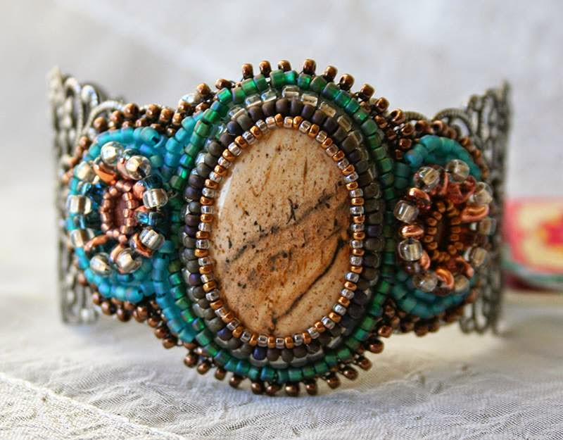 Picture Jasper Filigree Cuff
