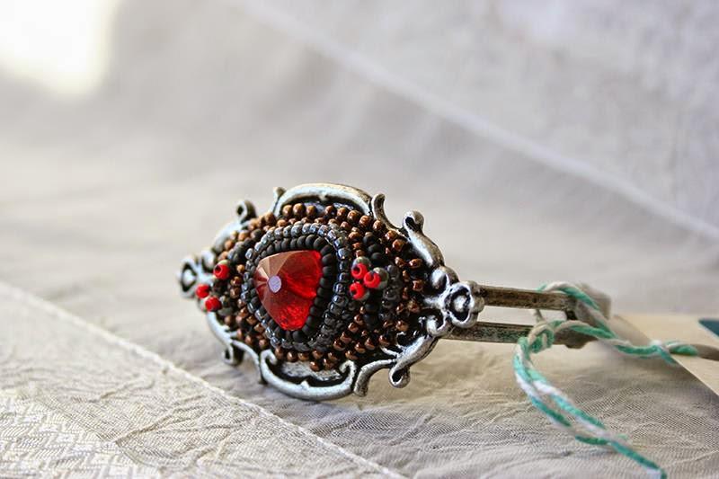 Red Gem Cuff Bracelet