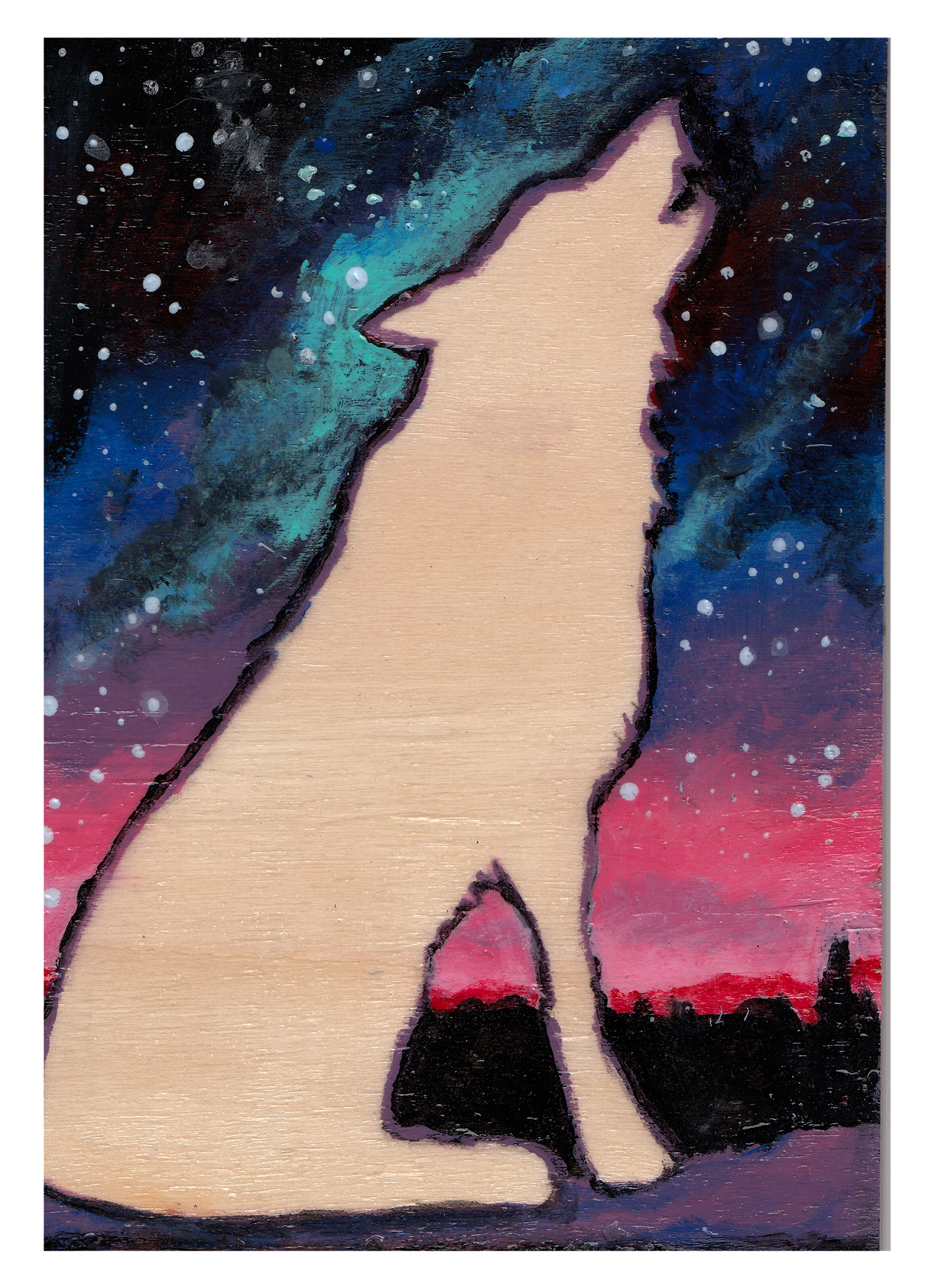 Wolf at Night