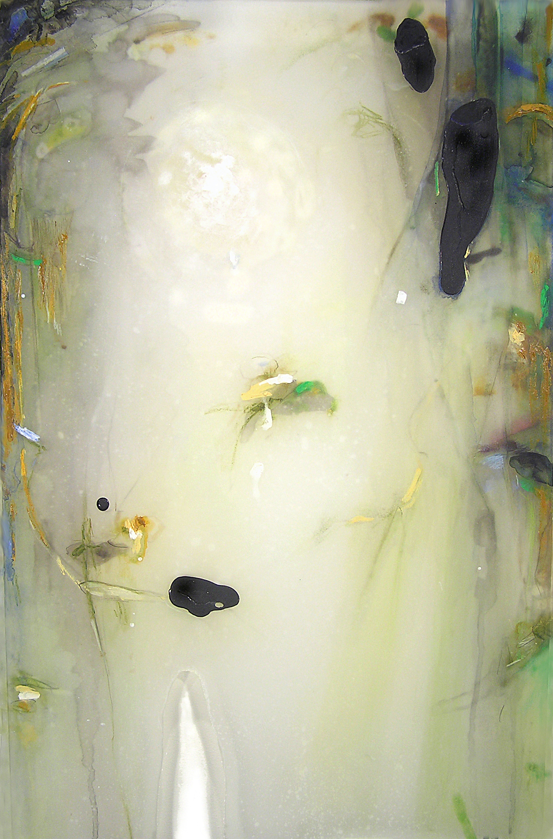 Vapor Light , 2008  Oil paint, oil bar, acrylic, and prismacolor on plexi 30 x 22 x 1 inches