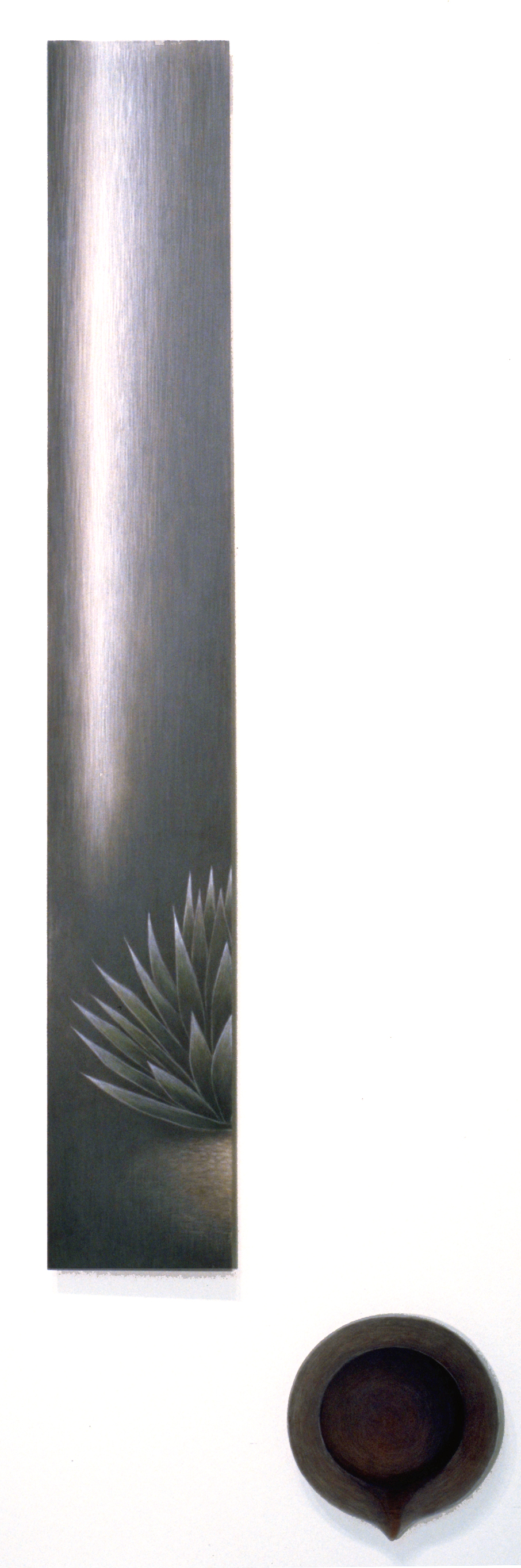 Agave with Vessel,  1997  Acrylic and pismacolor on plexi 60 x 20 x 1 inches