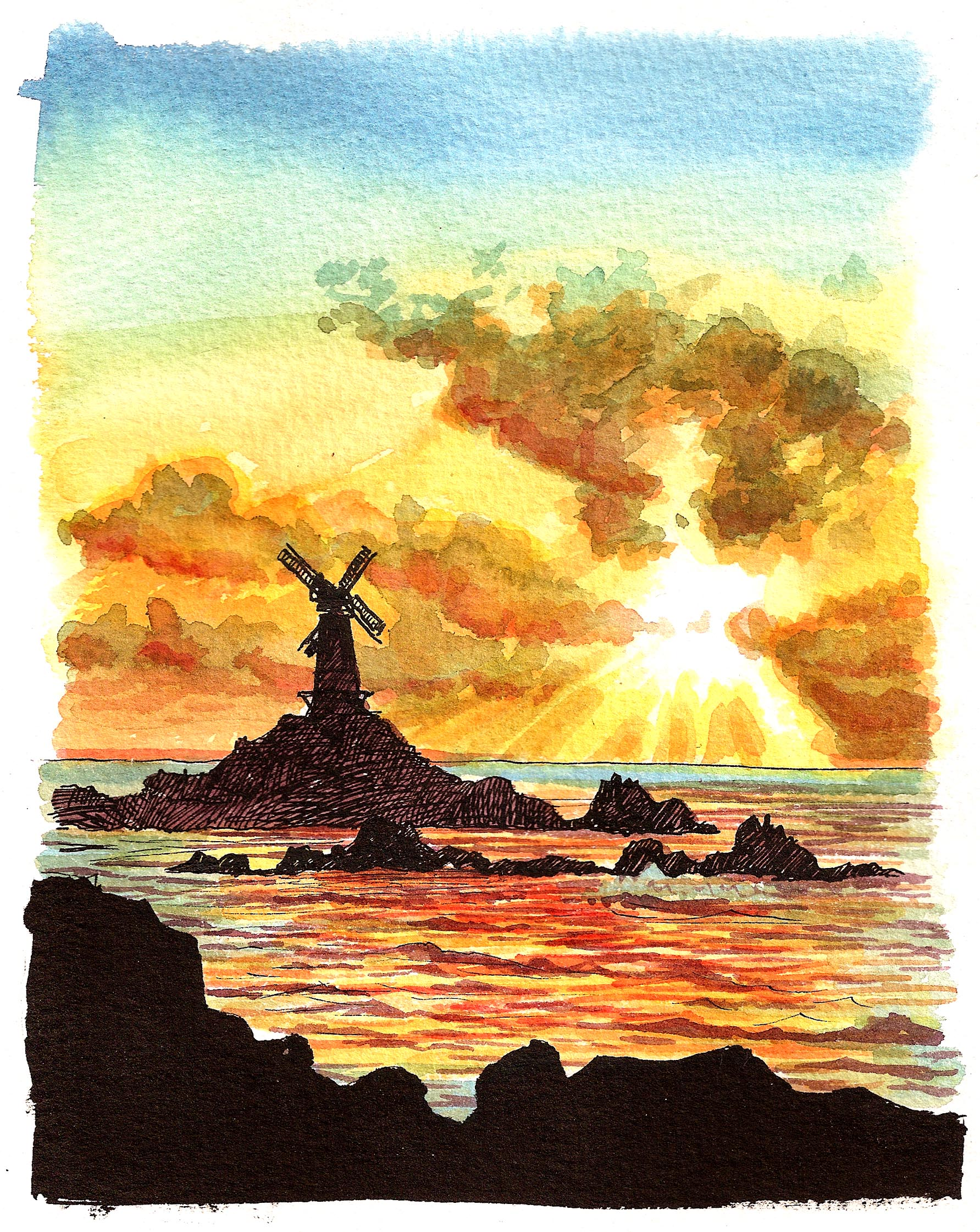'Windy Sunset'