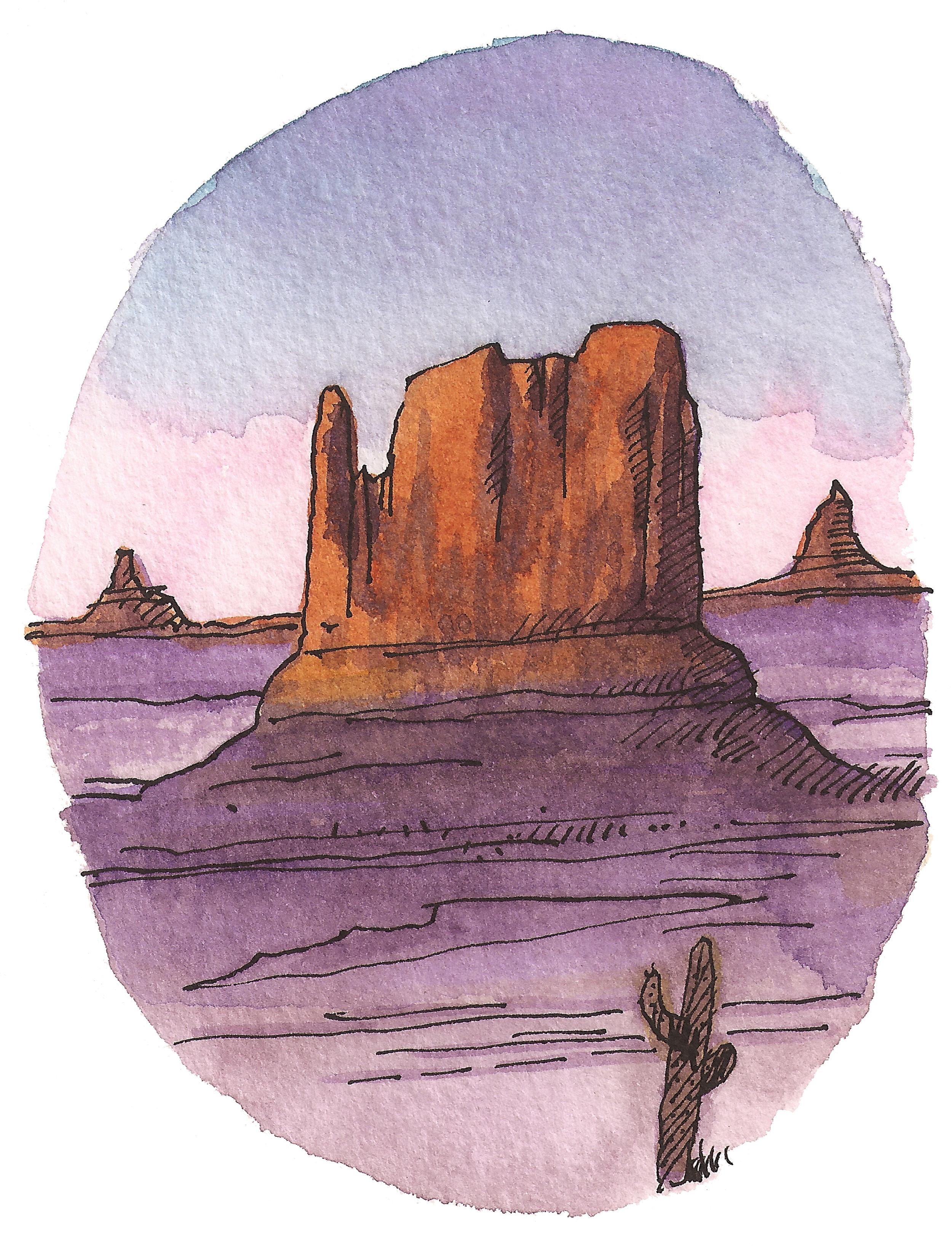 'Desert Sunset ll'