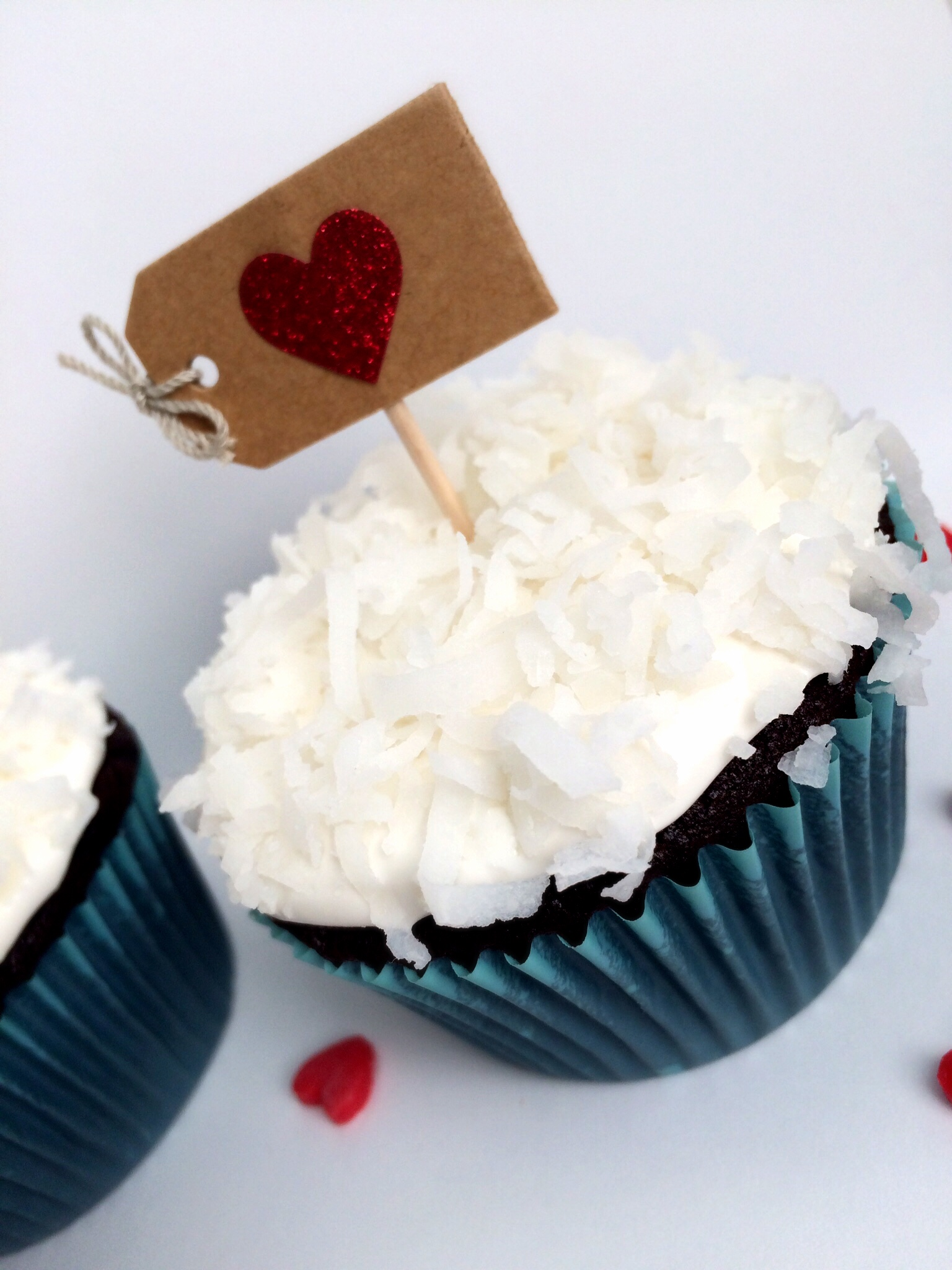 Close-up of marshmallow coconut frosting