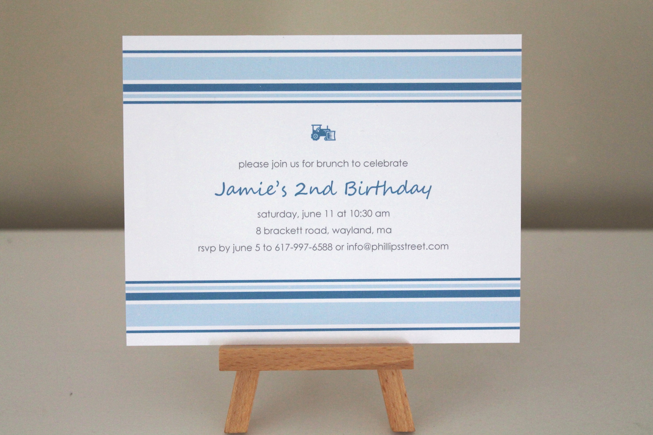 blue tractor invitation