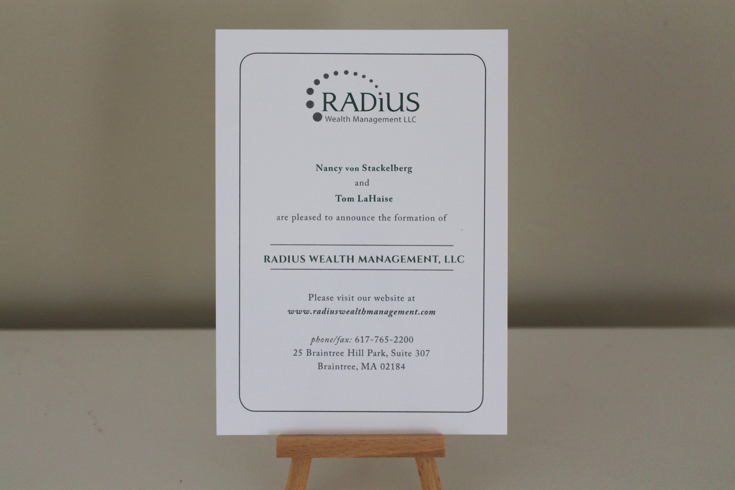 radius announcement