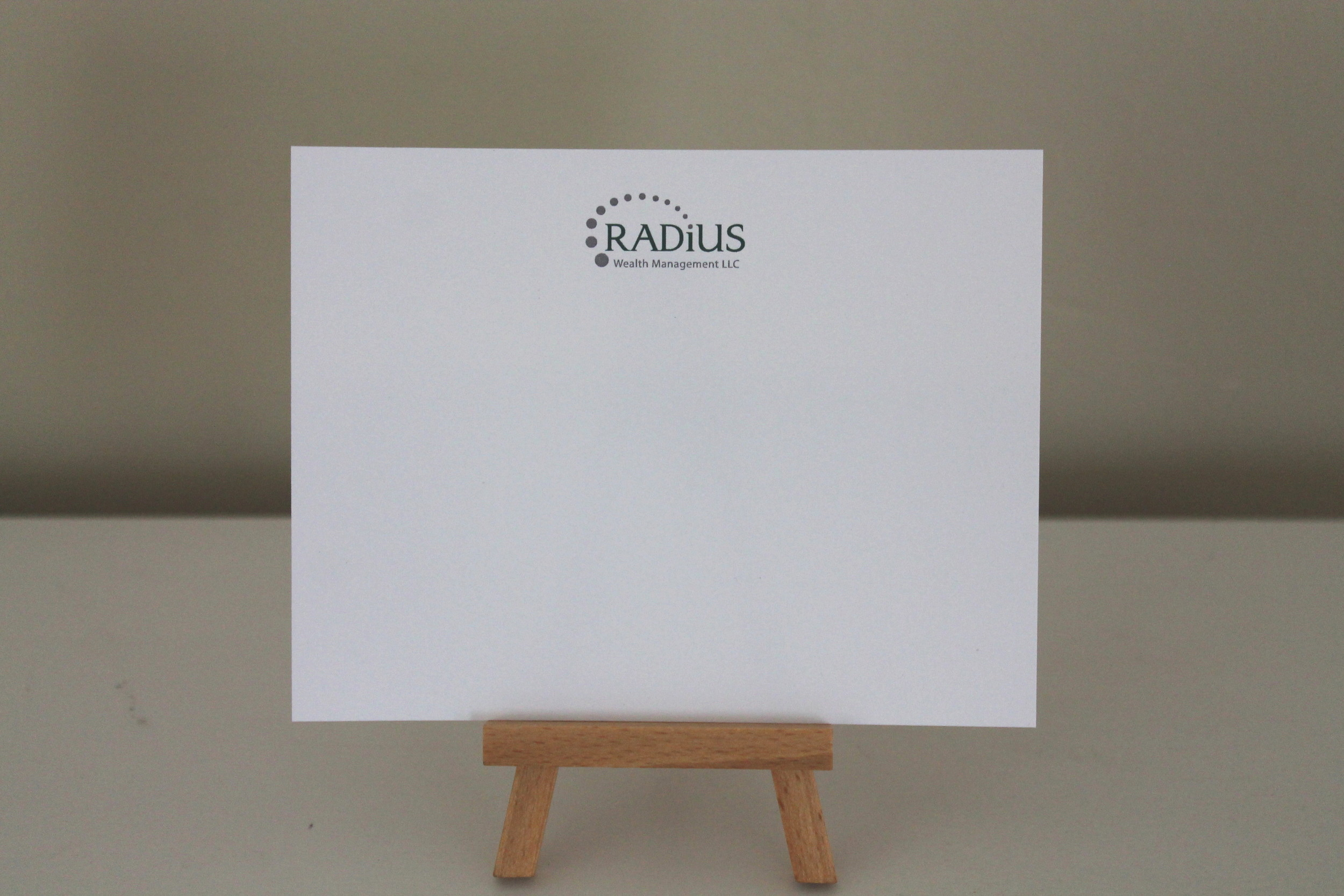 radius notecard