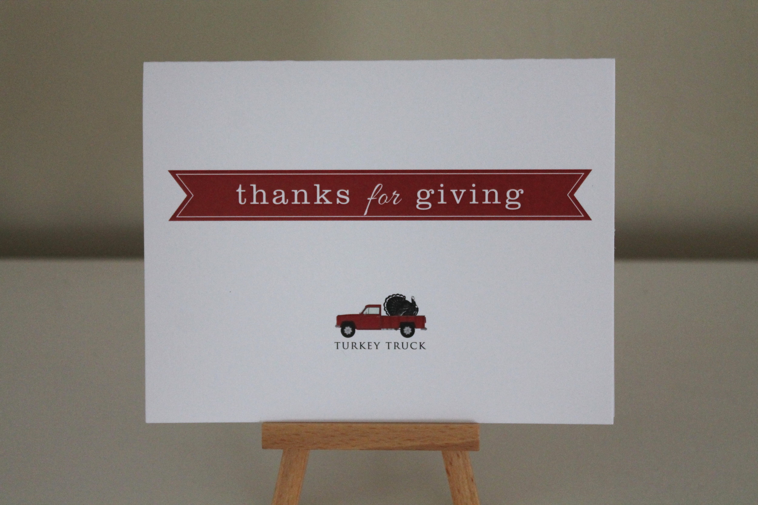 turkey truck thank you
