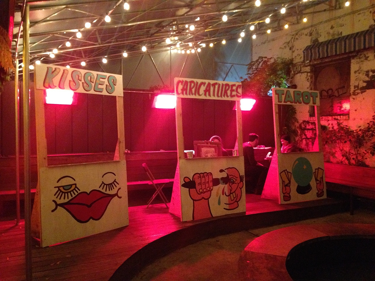 Carnival booths The Meat Hook 5 year anniversary party  2014   This came out a little blurry...probably because we were a little blurry that night   The Meat Hook