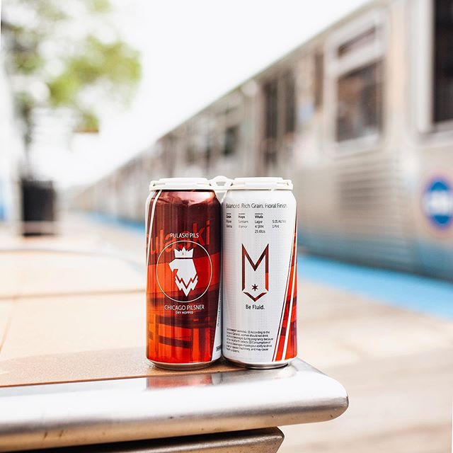 The official, unofficial beer of the CTA #commuterlife