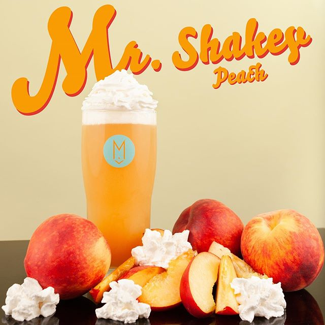 Just when you thought the Moon Fruit Monday CAN RELEASE was the only thing going down today, we're dropping a big ol' 🍑 BOMB on your head as well! 🤯 MR. SHAKEY PEACH has arrived! This juicy 🍑 is brewed with hundreds of pounds of fresh peach purée and vanilla beans. ⠀⠀⠀⠀⠀⠀⠀⠀⠀⠀⠀⠀ Available on draft and crowlers to-go at the Lounge TODAY! It will hit draft distro late this week into early next week!