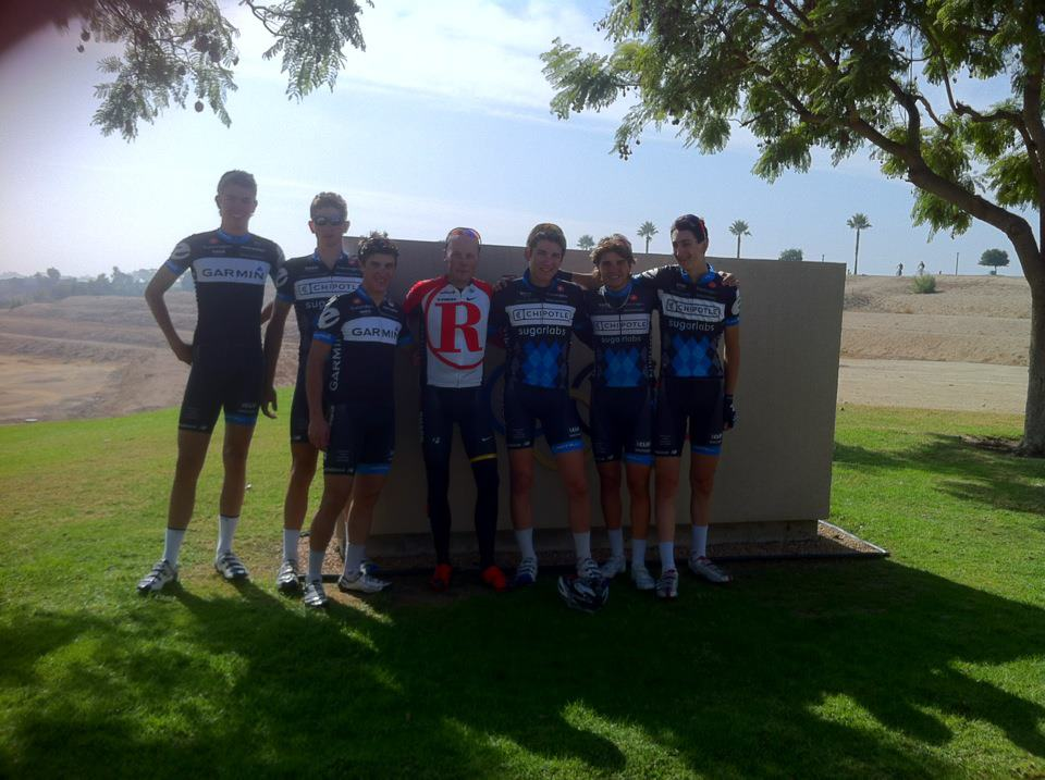 [second from left] After a hard training ride with Chris Horner at the Olympic Training Center in Chula Vista, CA - 2011