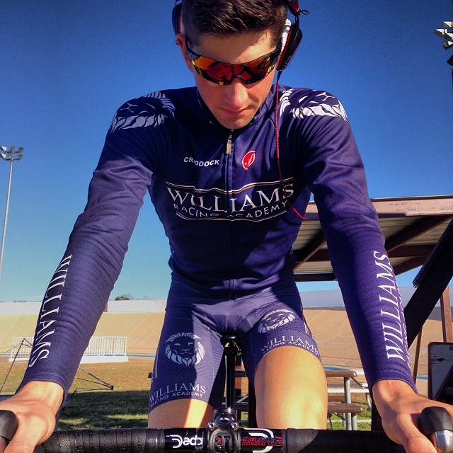 Warming up for a National Hour Record. Houston, TX - 2013