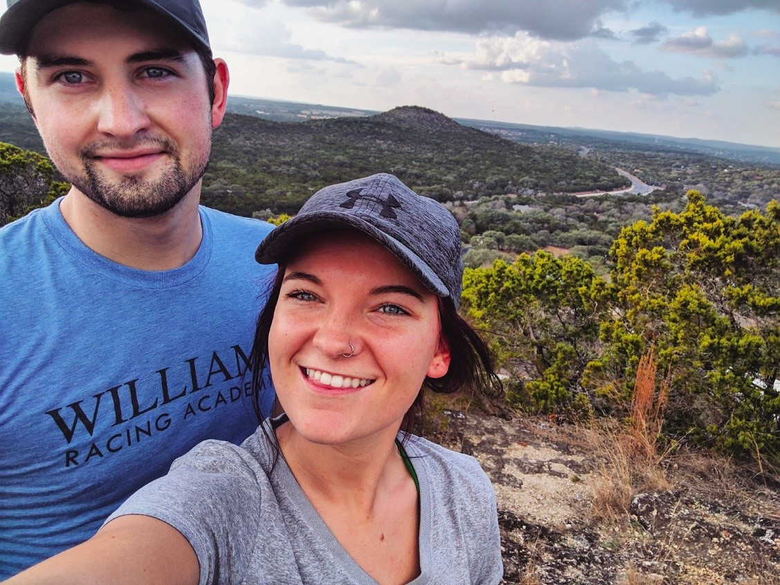 My girlfriend, Elizabeth (also a Kinesiology major), and I atop Mt. Baldy. Wimberley, 2017