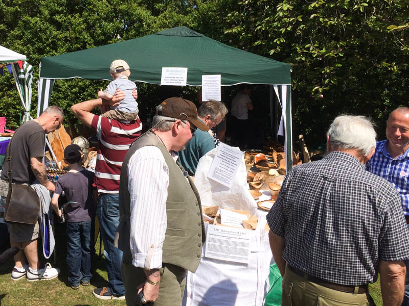 Plenty of visitors helped by the fantastic weather