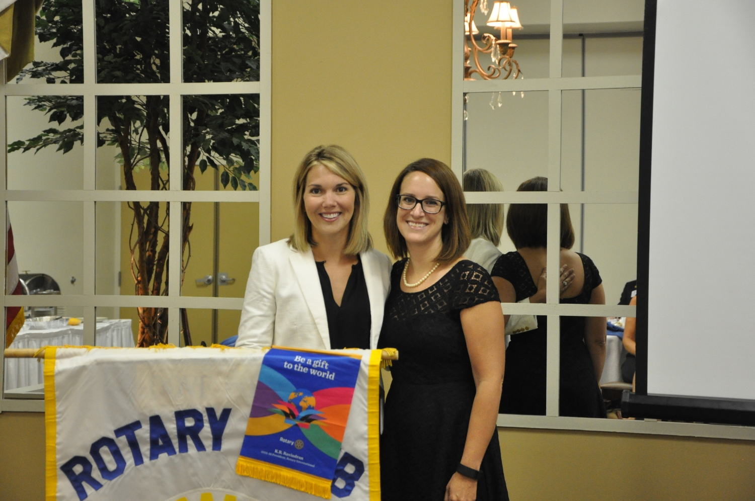 Club President, Amy Luppens and 2015-2016 Rotarian of the Year, Dr. Sarah Guy