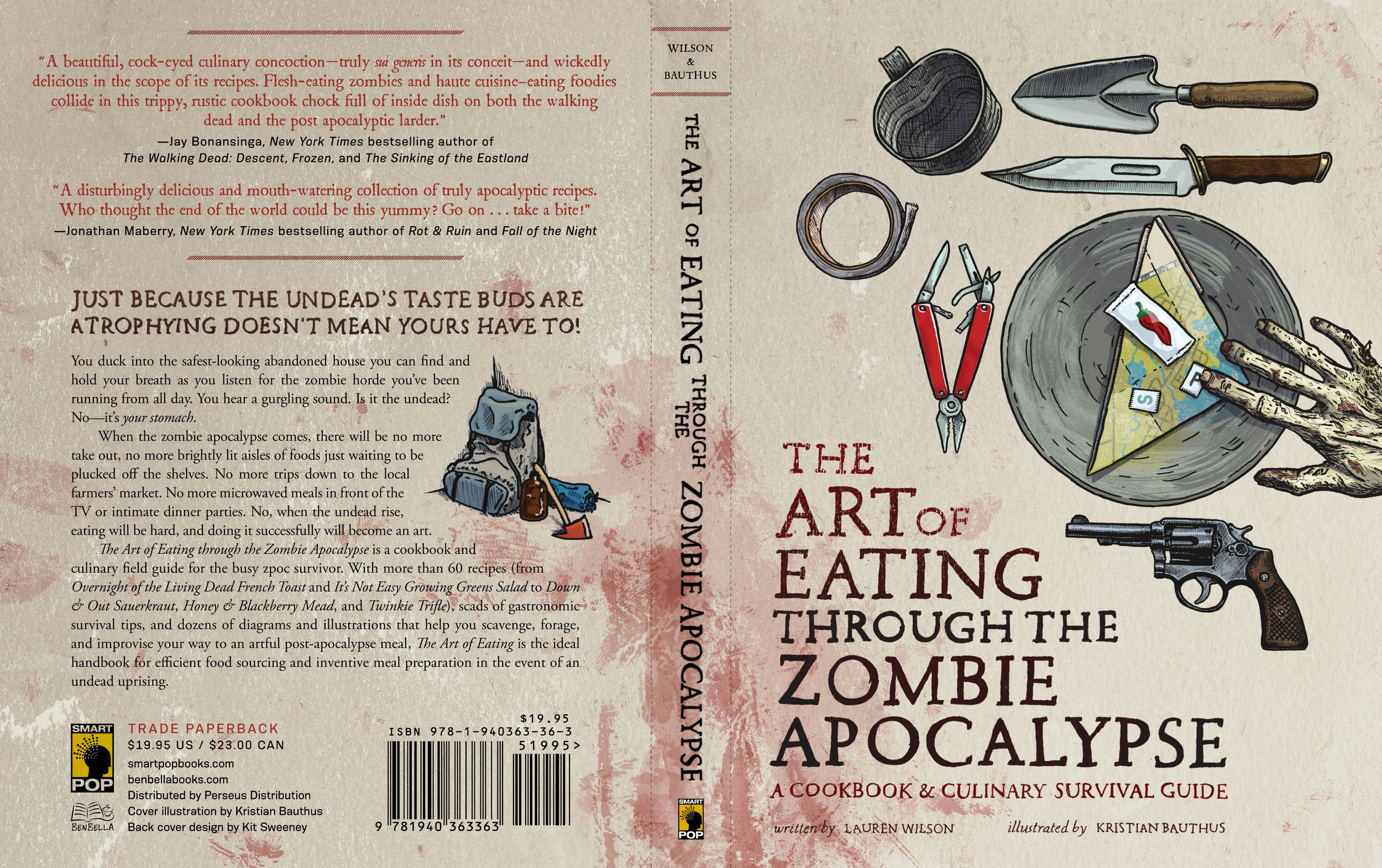 Launch day for The Art of Eating Through the Zombie Apocalypse by Lauren Wilson.